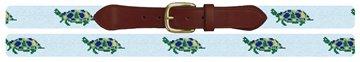 Sea Turtle Needlepoint Belt