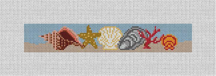 Seashell Needlepoint Key Fob Canvas