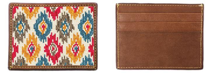 Sebah Ikat Needlepoint Card Wallet