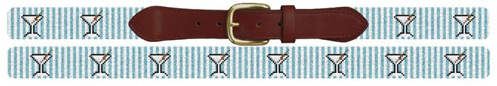 Seersucker Martini Needlepoint Belt