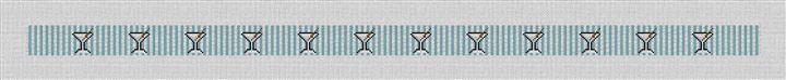 Seersucker Martini Needlepoint Belt Canvas