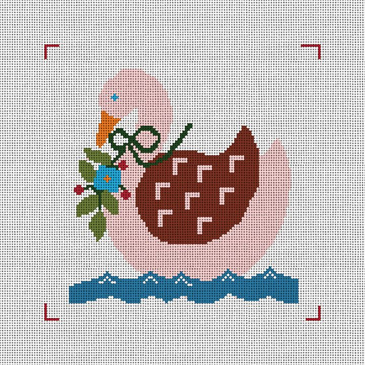 Seven Swans A-Swimming Needlepoint Canvas