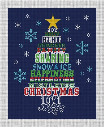 Sharing Christmas Tree Needlepoint Canvas