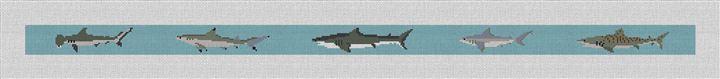 Shark Needlepoint Belt Canvas
