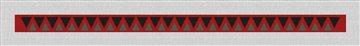 Shark Tooth Hatband Needlepoint Canvas