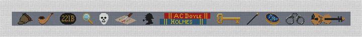 Sherlock Holmes Needlepoint Belt Canvas