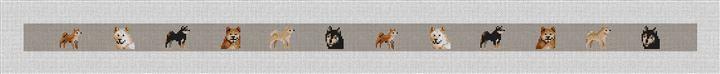 Shiba Inu Needlepoint Belt Canvas