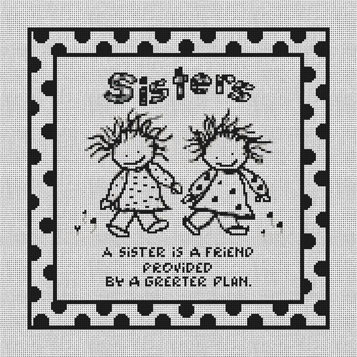 Sisters Needlepoint Canvas