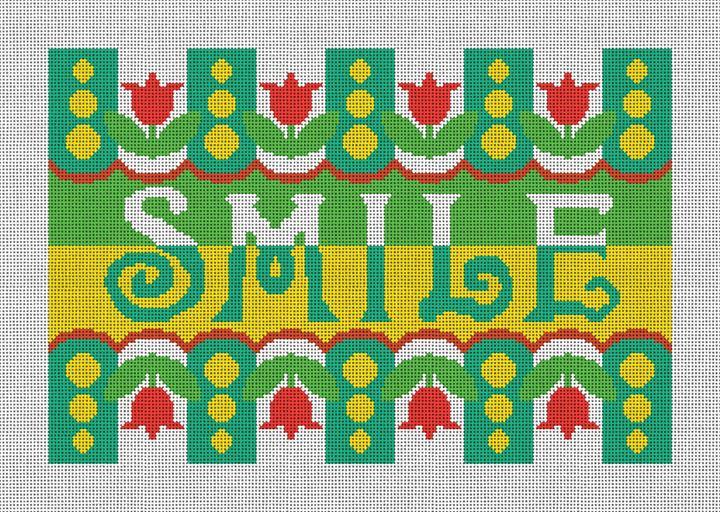 Smile Needlepoint Pillow Canvas