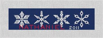 Snowflake Needlepoint Christmas Ornament Canvas