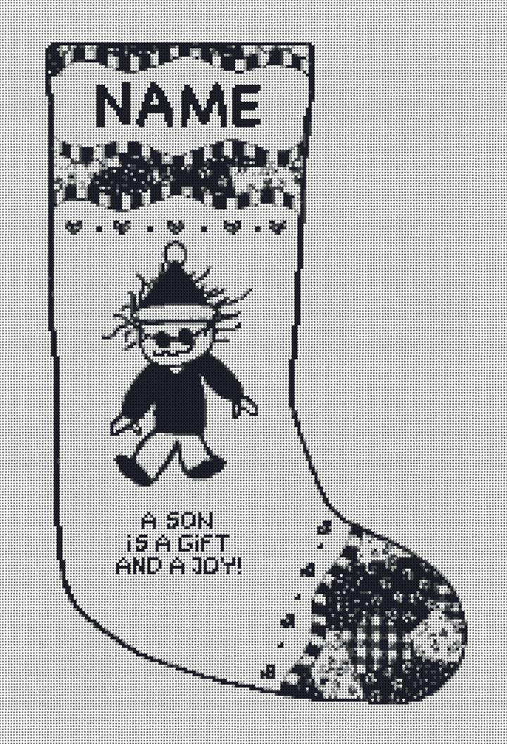 Son is a Gift Needlepoint Stocking Canvas