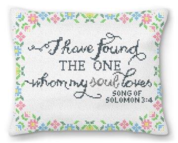 Song of Solomon Wedding Needlepoint Pillow