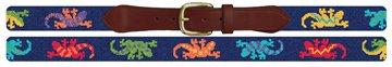 Southwestern Gecko Needlepoint Belt