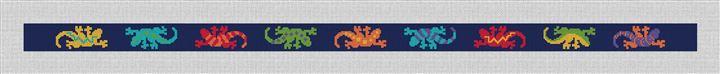 Southwestern Gecko Needlepoint Belt Canvas