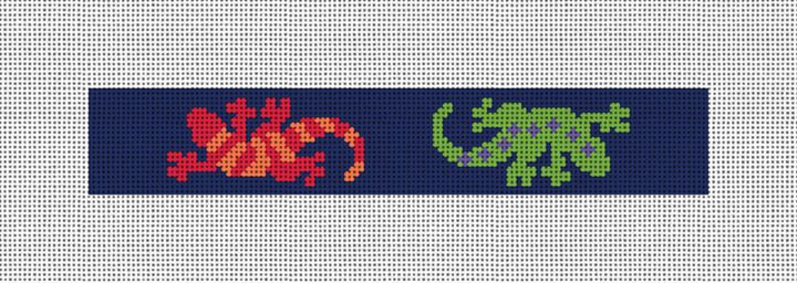 Southwestern Gecko Needlepoint Key Fob Canvas