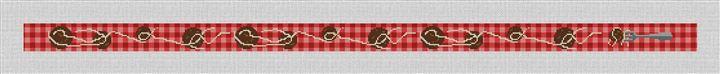 Spaghetti and Meatballs Needlepoint Belt Canvas