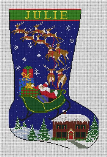 Special Delivery Needlepoint Stocking Canvas