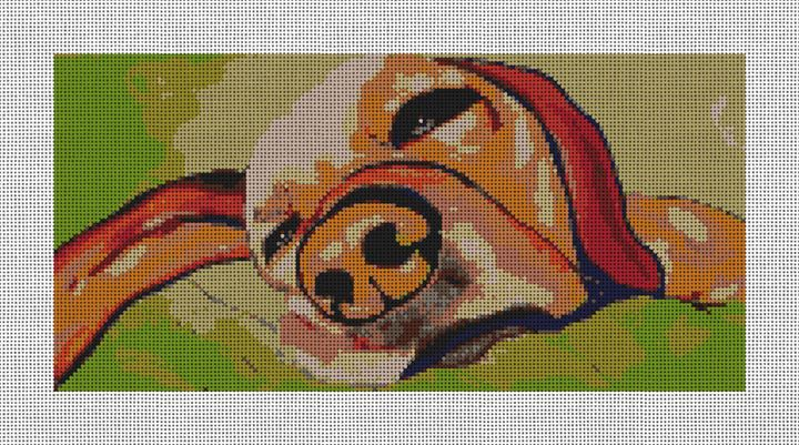 Spoilt Dog Needlepoint Canvas