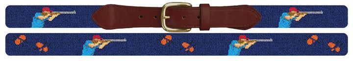 Sporting Clays Needlepoint Belt