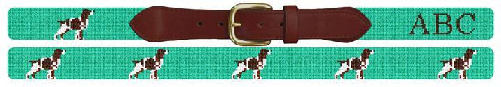 Springer Spaniel Needlepoint Belt