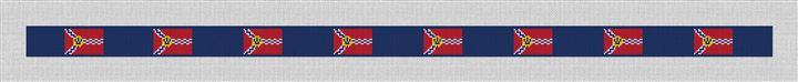 St. Louis Flag Needlepoint Belt Canvas