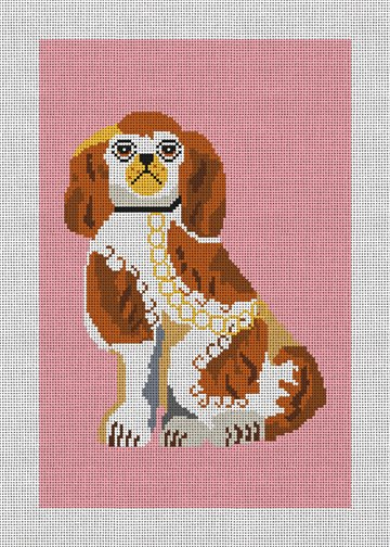 Staffordshire Terrier Needlepoint Canvas