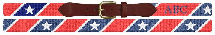 Stars Stripes Needlepoint Custom Belt