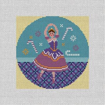 Sugar Plum Fairy Needlepoint Ornament Canvas