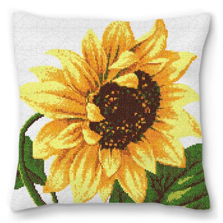 Sunflower Needlepoint Pillow