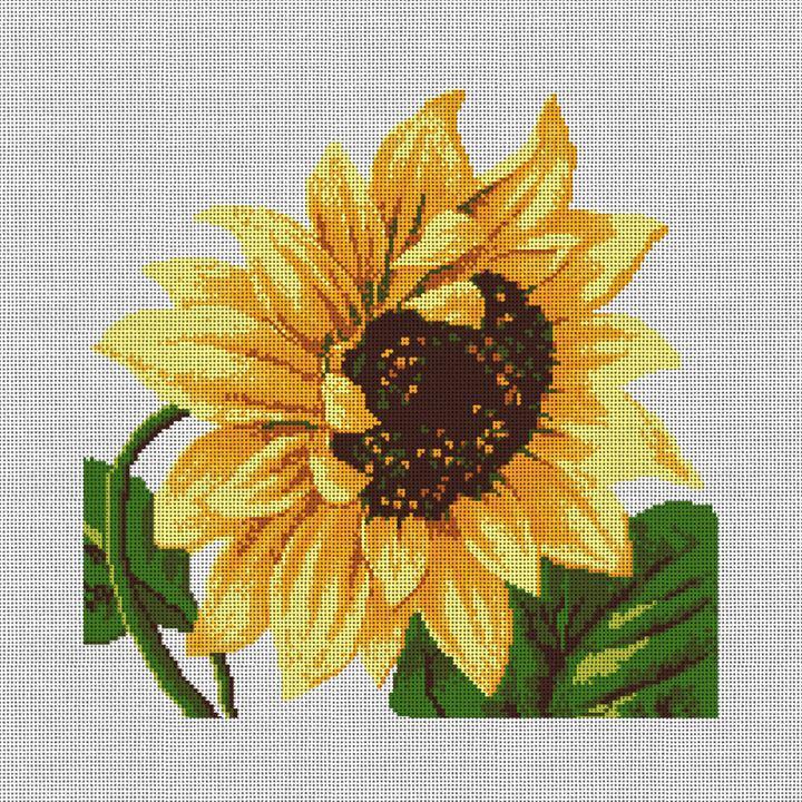 Sunflower Needlepoint Pillow Canvas