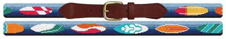 Surf Board Needlepoint Belt