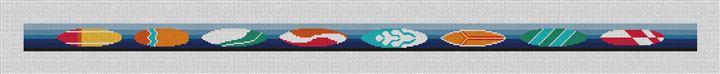 Surfing Needlepoint Belt Canvas
