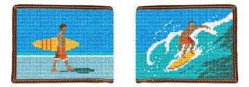 Surfing Needlepoint Wallet
