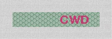 Sweet Scallops Needlepoint Key Fob Canvas