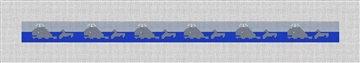 Swimming Whale Hatband Needlepoint Canvas