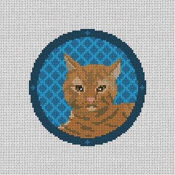 Tabby Cat Needlepoint Ornament Canvas