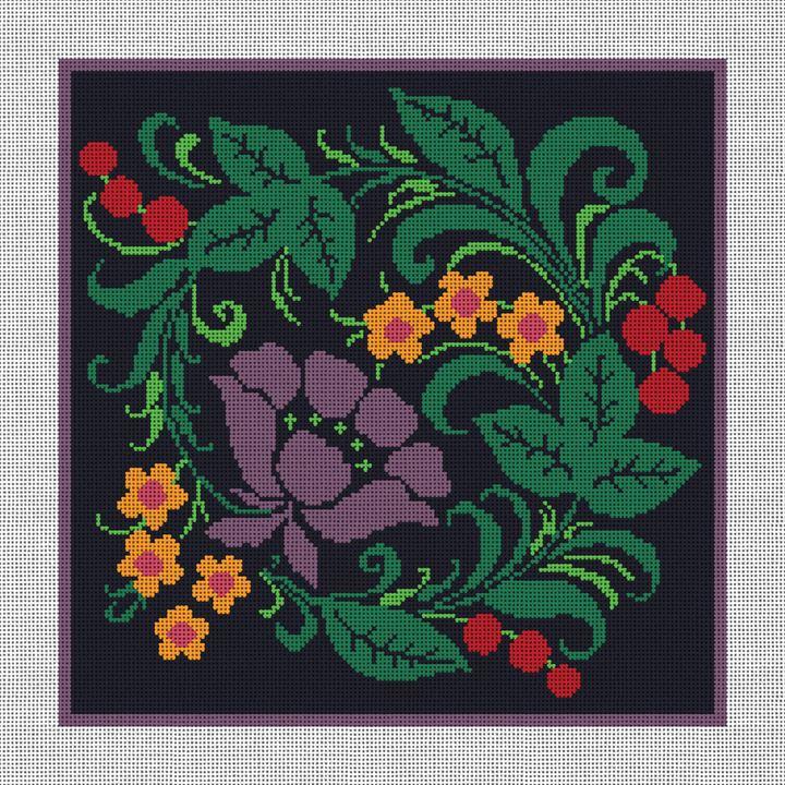 Tadley Floral Needlepoint Canvas