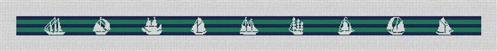 Tall Ship Marine Needlepoint Belt Canvas