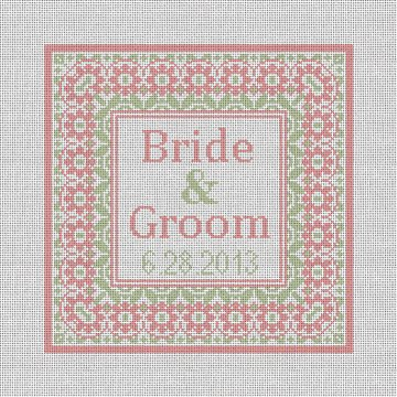 Taza Wedding Ring Bearer Pillow Needlepoint Canvas