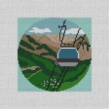 Telluride Gondola Needlepoint Ornament Canvas