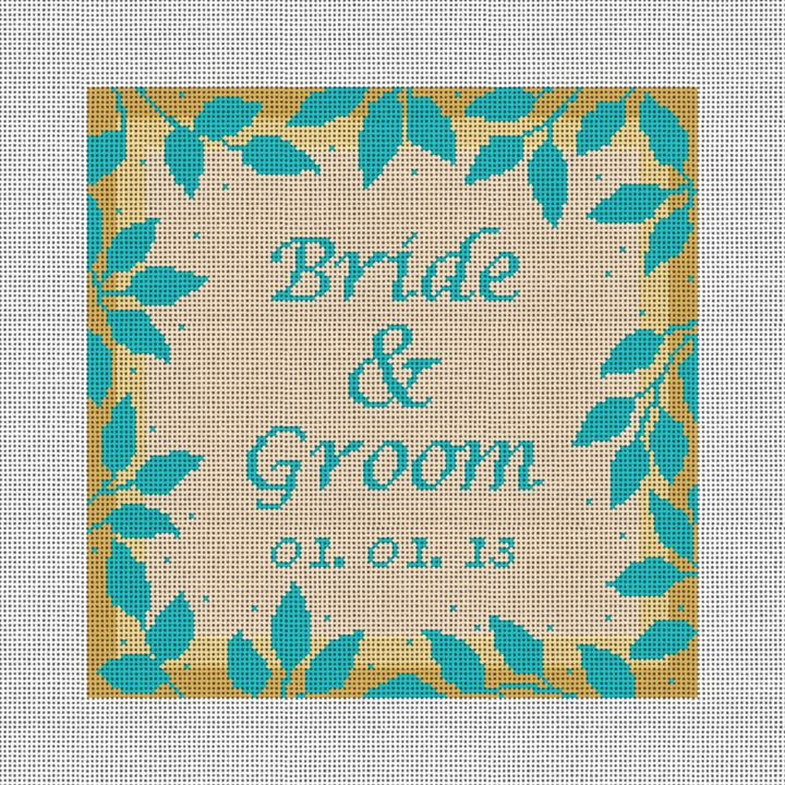 Telluride Needlepoint Wedding Ring Pillow Canvas