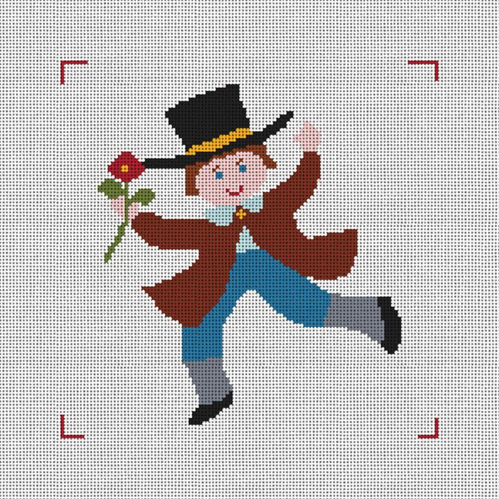 Ten Lords A-Leaping Needlepoint Canvas