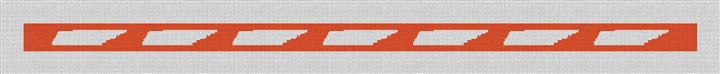 Tennessee State Needlepoint Belt Canvas