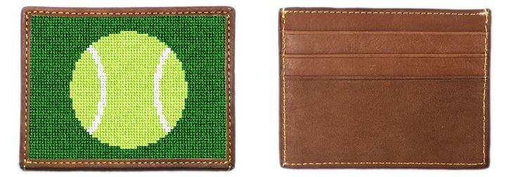 Tennis Ball Needlepoint Card Wallet
