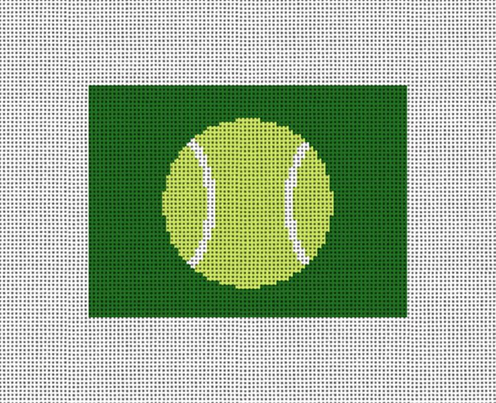Tennis Ball Needlepoint Card Wallet Canvas