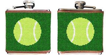 Tennis Ball Needlepoint Flask