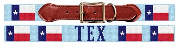 Texas Flag Needlepoint Dog Collar