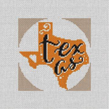 Texas Needlepoint Christmas Ornament Canvas