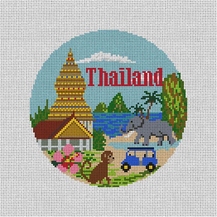 Thailand Needlepoint Ornament Canvas