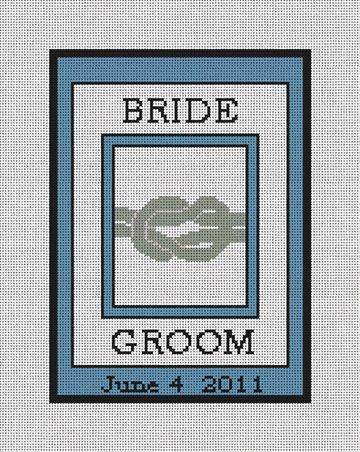The Knot - Wedding Ring Bearer Pillow Canvas